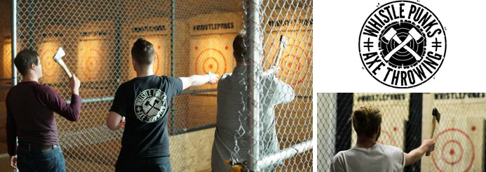 adventure jobs with Whistle Punks Axe Throwing